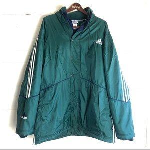 Adidas Men's Vintage Green Jacket